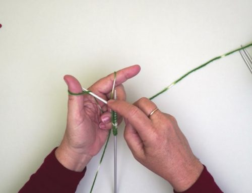 Casting on with double pointed needles
